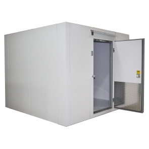 Lauro Equipment Custom Walk-In Freezer 6'x6'x7' with Floor Premium Low Temp Refrigeration Self-Contained