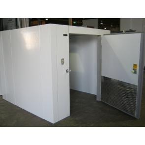 Lauro Equipment Custom Walk-In Cooler 8'x10'x7' No Floor Economic Medium Temp Refrigeration Self-Contained