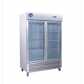 Americool AM-49RG 2 Door Glass Reach-In Refrigerator