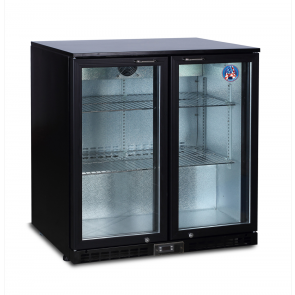 Americool AMBBBD-230 Double Hinged Glass Door Backbar Refrigerator