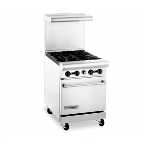 "American Range AR-4 24"" Wide 4 Burner Heavy Duty Restaurant Range Gas"
