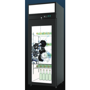 Americool AMVSD-401 Transparent LCD Beverage Refrigerator