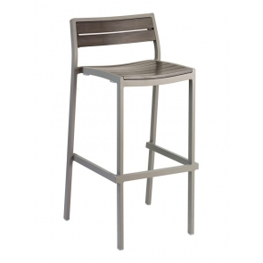 Florida Seating BAL-5700 Warm Gray Outdoor Barstool