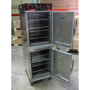 Cres Cor 1000CHSS2D Full Size Doublestack Cook-N-Hold Low Temperature Radiant Oven on Casters