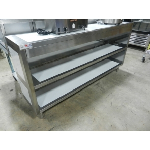 """US Stainless USDC-1572-418 15""""x72"""" Stainless Steel Dish Storage Cabinet"""