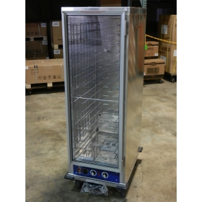 US Cooking USHP1836HPICU Insulated Full Size Heated Holding & Proofing Mobile Cabinet w/Clear Door 16 Pan