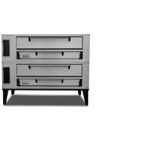 "Marsal & Sons SD-1048 Stacked SD 4 Pie Series Double Pizza Oven Deck Type Gas (8) 18"" Pie Capacity"