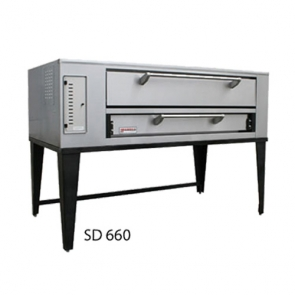 Marsal & Sons SD-660 SD 6 Pie Series Single Pizza Oven Deck Type Gas