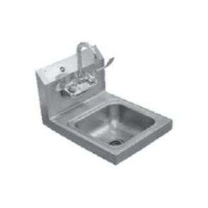 "Serv-Ware HS15-CWP 17"" Wall Mount Stainless Steel Hand Sink"