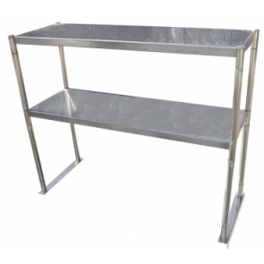 "Serv-Ware OS-3E-CWP 12""x36"" Stainless Steel Double Tier Over Shelf"