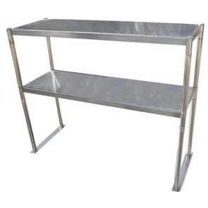 "Serv-Ware OS-5E-CWP 12""x60"" Stainless Steel Double Tier Over Shelf"