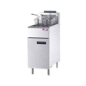 US Cooking USFF-400 50lb. Commercial Natural Gas Fryer 136K BTU