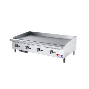"US Cooking USFG48 48"" 4 Burner Commercial Gas Griddle"