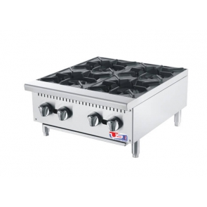 "US Cooking USFH24-4 24"" Commercial Gas 4 Burner"