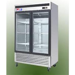 US Refrigeration USBV-48SD 2 Door Glass Reach-In Refrigerator
