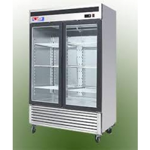 US Refrigeration USBV-48SDF 2 Door Glass Reach-In Freezer