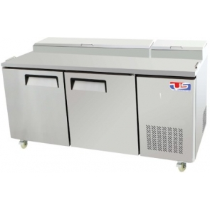 US Refrigeration USPV-67 2 Door Pizza Prep Table