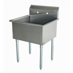 "US Stainless USS1C242414 29"" 1 Compartment Commercial Stainless Steel Sink"