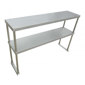 """US Stainless USDOS-1248-416 12""""x48"""" Stainless Steel Double Overshelf"""