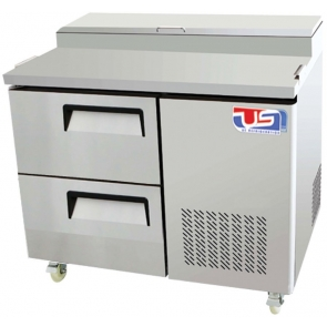 US Refrigeration USPV-44-02D 2 Drawer Pizza Prep Table