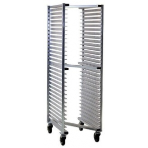 "US Stainless USRACK-Z Heavy Duty Aluminum ""Z"" Style Nesting Mobile Sheet Pan Rack 20 pan/700lb. Capacity"