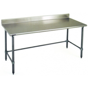 "US Stainless USWTS-3072-2R-418-0B 30""x72"" All S/S Bakery Work Table"