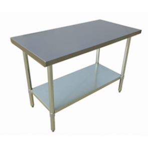 """US Stainless USWTS-3072-416 30""""x72"""" All Stainless Steel Work Table 16 Gauge Top"""