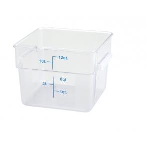 Winco PCSC-12C 12qt Clear Storage Container