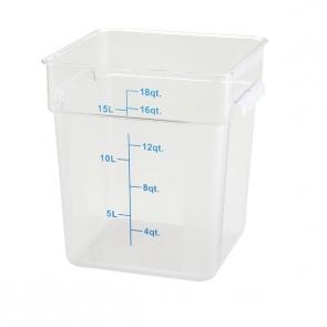 Winco PCSC-18C 18qt Clear Storage Container