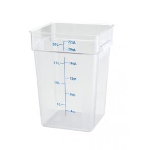 Winco PCSC-22C 22qt Clear Storage Container