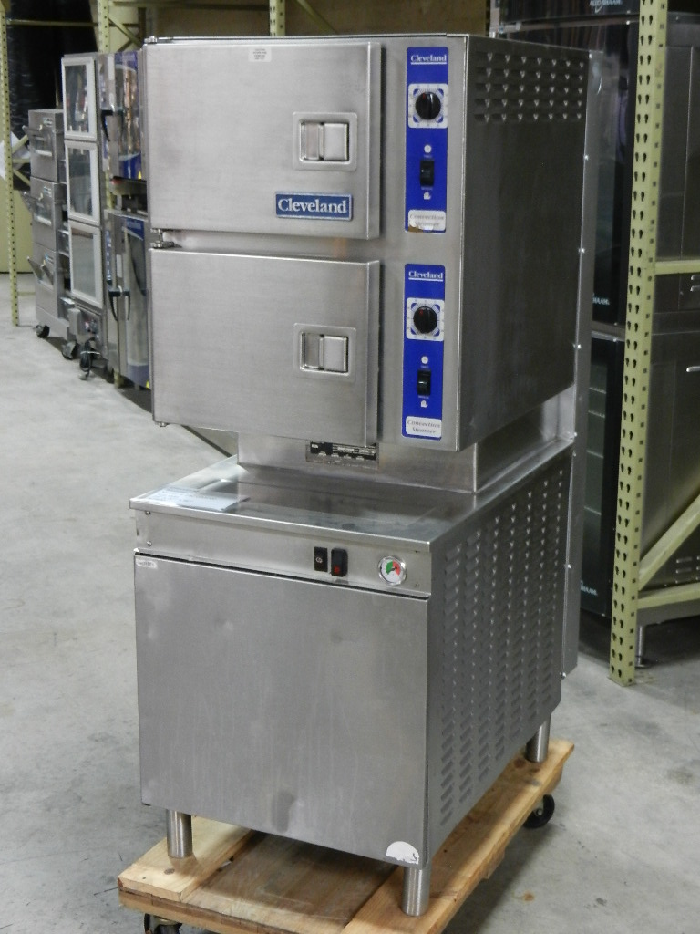 Cleveland 24 Cgm 200 Pan Gas Convection Floor Steamer With